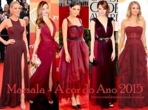 MARSALA Red Carpet! Emma Stone, Blake Lively, Miranda Kerr, Mila Kunis, Kaley Cuoco