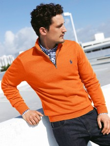 LOOK  CASUAL BLUSÃO LARANJA Ralph Lauren orange Polo pullover