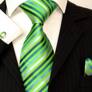 LOOK cam GRAVATA VERDE Paul Malone Silk Tie Set - Green