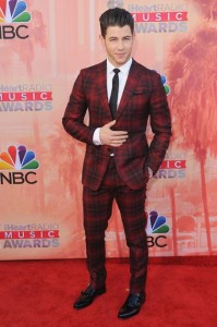 LOS ANGELES, CA - MARCH 29:  Singer Nick Jonas arrives at the 2015 iHeartRadio Music Awards at The Shrine Auditorium on March 29, 2015 in Los Angeles, California.  (Photo by Jon Kopaloff/FilmMagic)