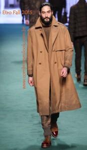 LOOK CASUAL CASACO COURO 7-8 Etro - Fall 2015 Menswear LOGO SITE