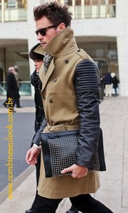 TRENCH COAT BEGE e COURO LOGO SITE
