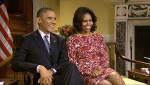 Michelle Obama com vestido Tory Burch
