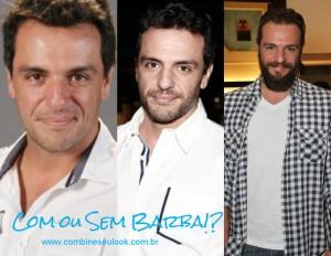 BARBA COM E SEM Rodrigo Lombardi