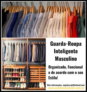 ORGANIZ DO GUARDA-ROUPA MASCULINO moldura
