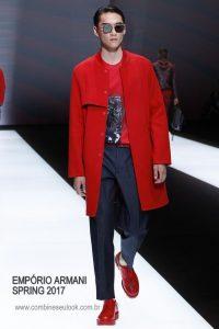 Emporio Armani Spring 2017 Menswear VERMELHO LOGO SITE