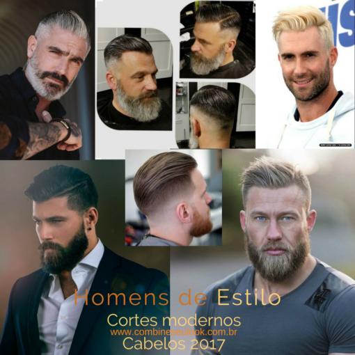 Cabelos Masculinos Grisalhos E Modernos Mudança No Visual