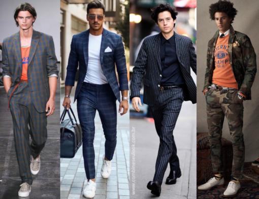 8411ff0bfcf Monocromático ou em combinações neutras, esse look pede ousadia! Para os  mais discretos, aposte nas camisas e ternos que já são um clássico (azul,  cinza, ...